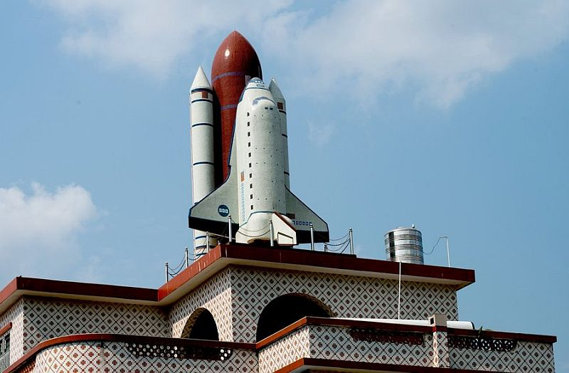 Space shuttle replica by Chinese farmer