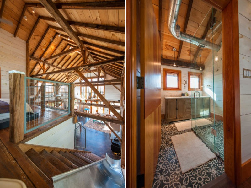 Old barn restored into cozy house