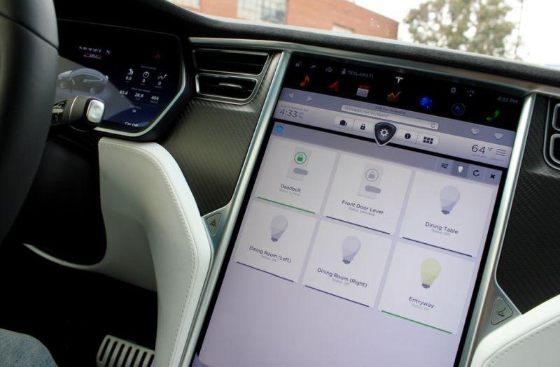 Tesla Model S Google Home