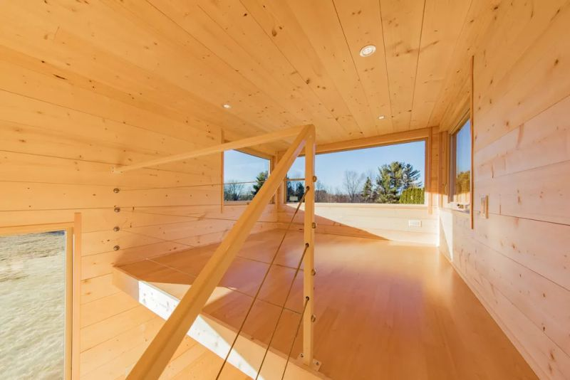 Trailer home from Escape Traveler features Shou Sugi Ban style exteriors