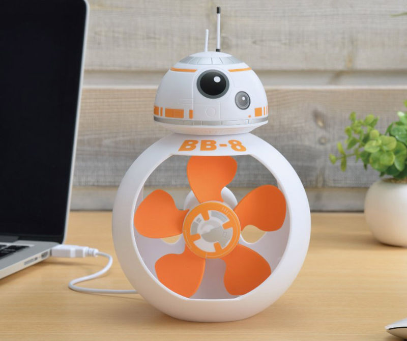 USB-powered BB-8 droid desk fan for Star Wars freaks