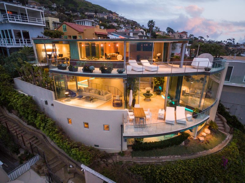 floating glass house