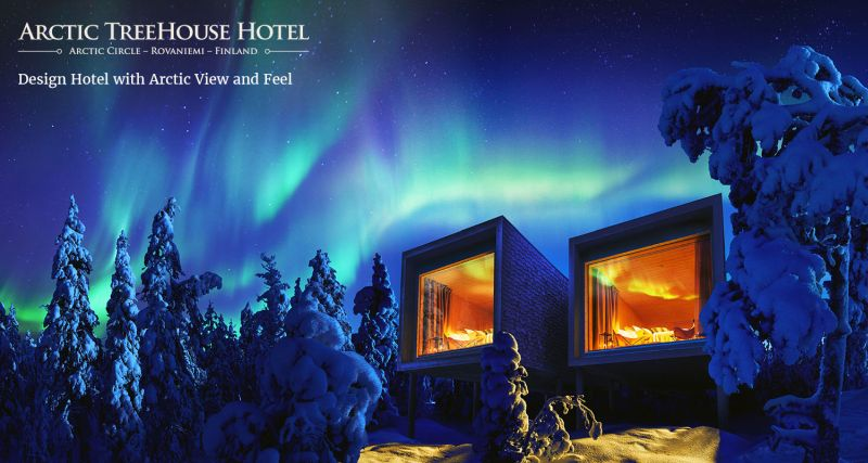 Artic tree house hotel