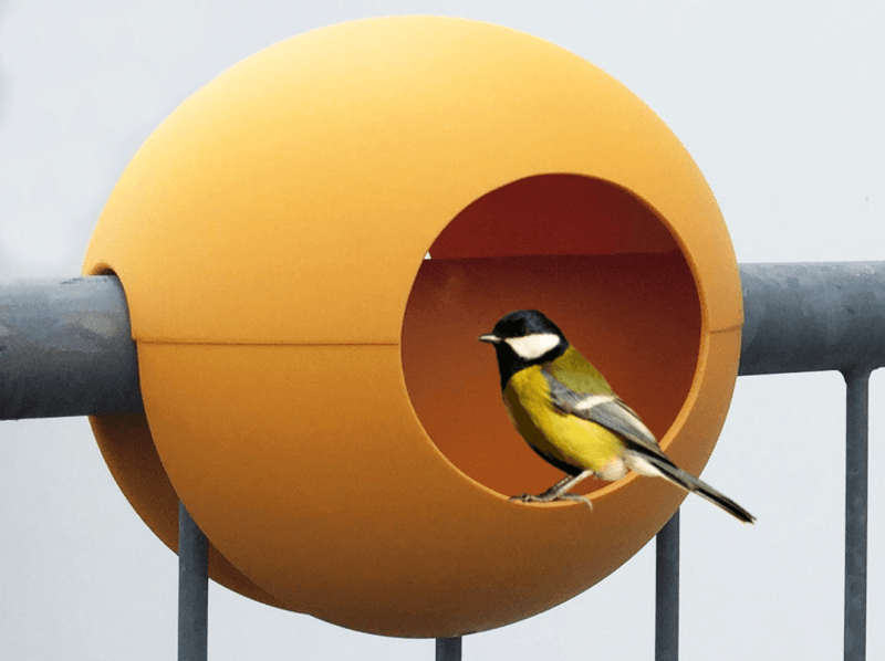 Birdball bird house by Michael Hilgers