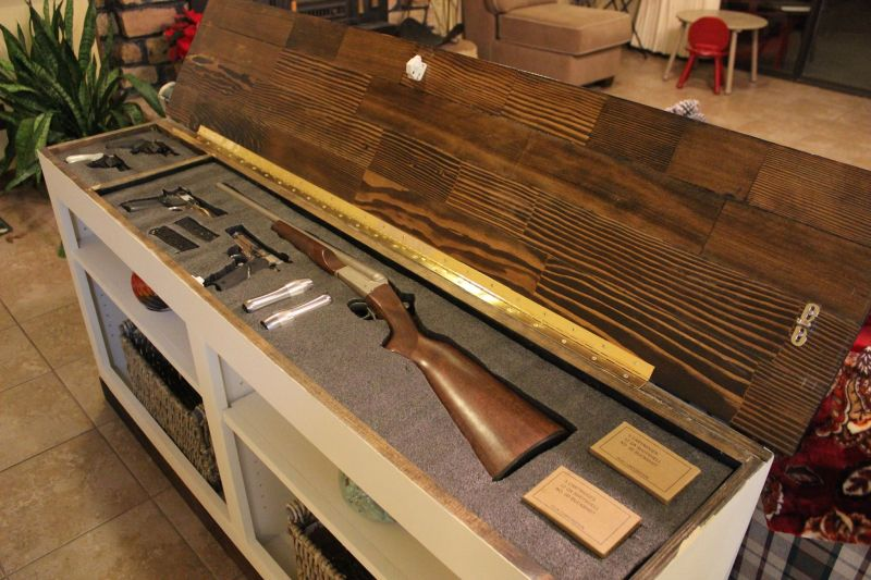 Hide your fire arm inside a Bookcase