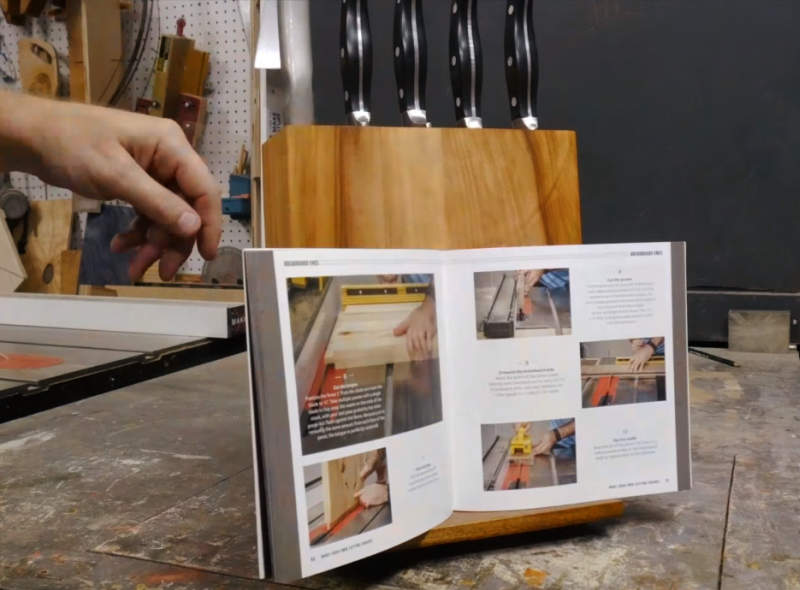 Easy DIY- Make wooden knife block that holds your cookbook