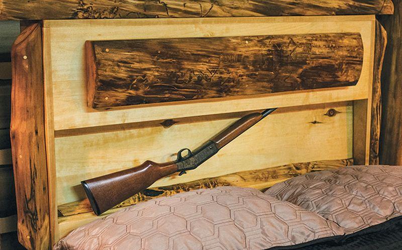Gun safe in bed headboard by GunBed.com