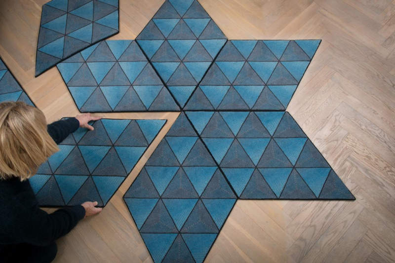 Jizsaw modular rugs by Ingrid Külper of Mattahari