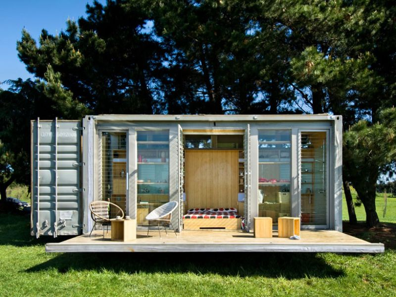 Port-A-Bach sustainable shipping container home