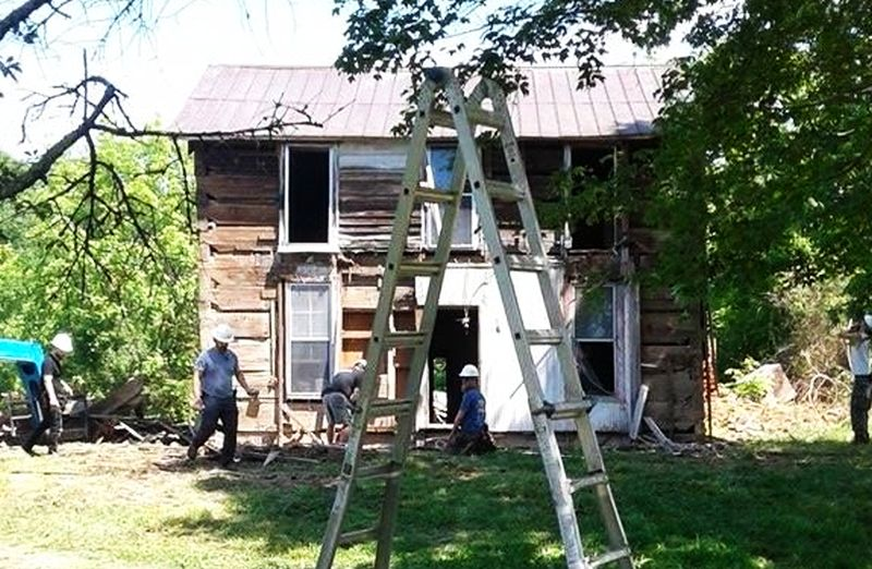 Roy house was torn down to rebuilt