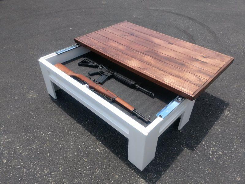 Executive desk with hidden gun safe