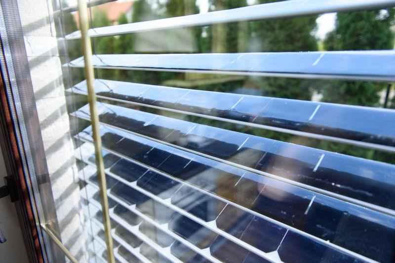 SolarGaps solar blinds filter sunlight while generating green energy
