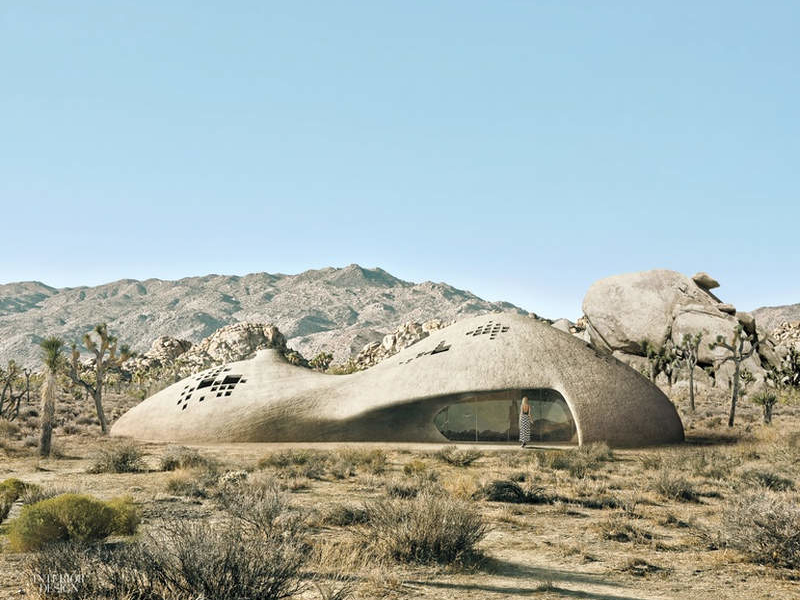 Spray-On House by Patrick Tighe Architecture is made mostly out of spray foam