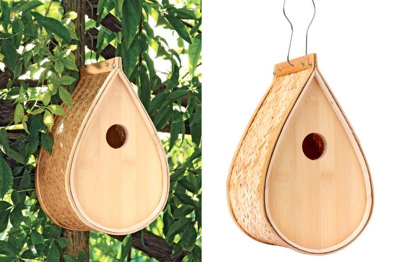 Woven Bamboo Birdhouse