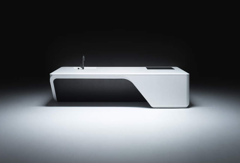 Zaha Hadid Architects designs Cove custom kitchen island for Boffi