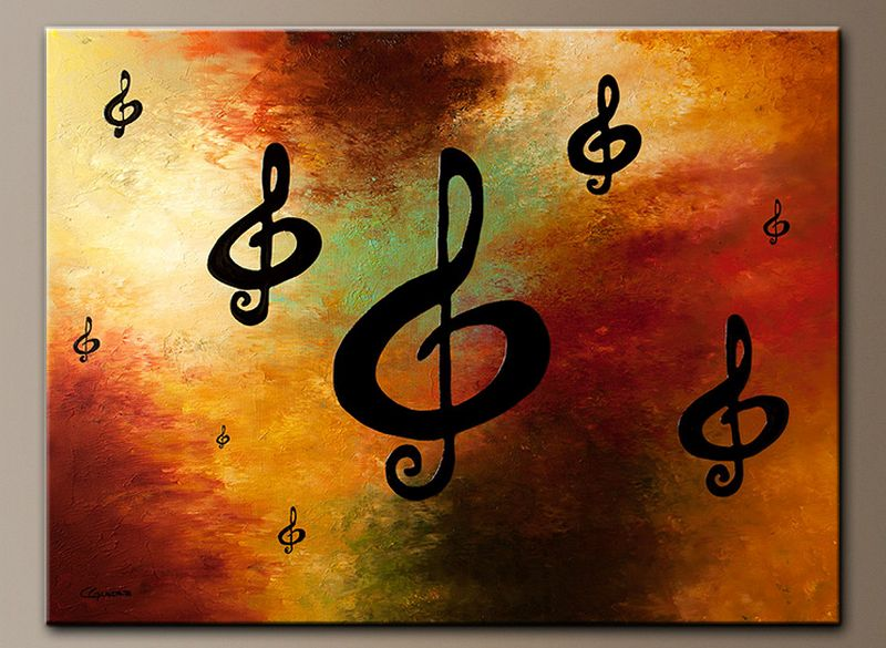 Music-themed wall paintings
