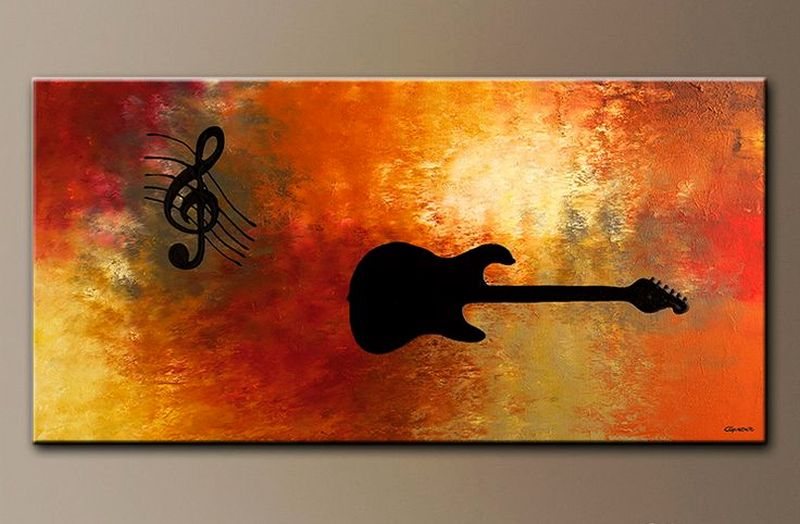 Wall paintings for music-themed home decor