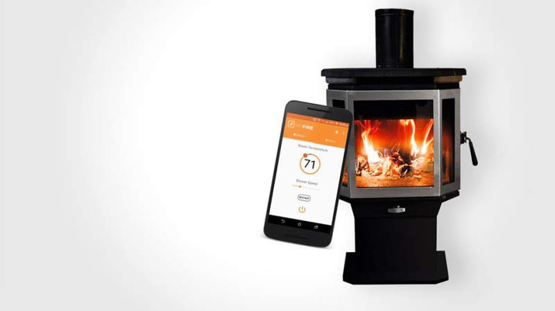 Catalyst smart wood burning stove by MF Fire
