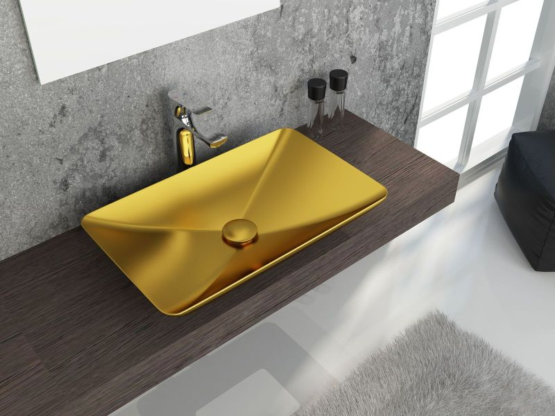 ColorISVEA metallic bathroom accessories.