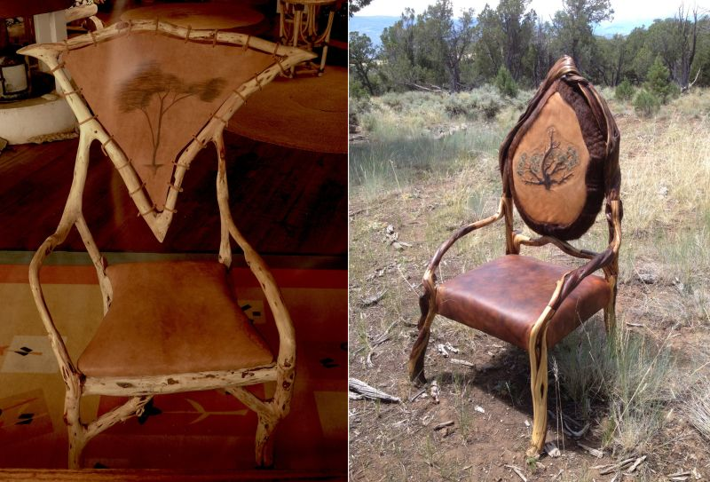 Denver man creates rocking chairs out of tree branches