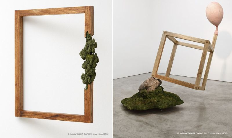 Landscape on wooden frame