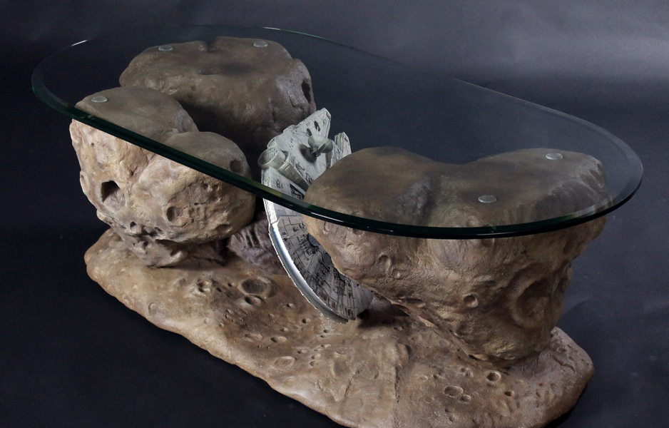 Star Wars Millennium Falcon Asteroid Coffee Table