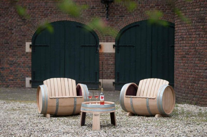 recycle wine barrel into furniture