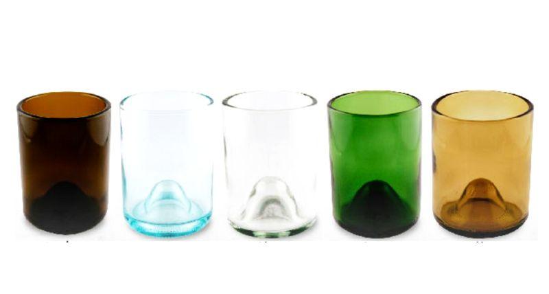 Create glasses using wine bottles
