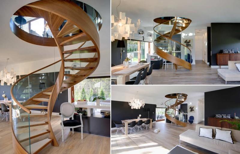 Spiral staircase by Damian Cyryl Kotwicki