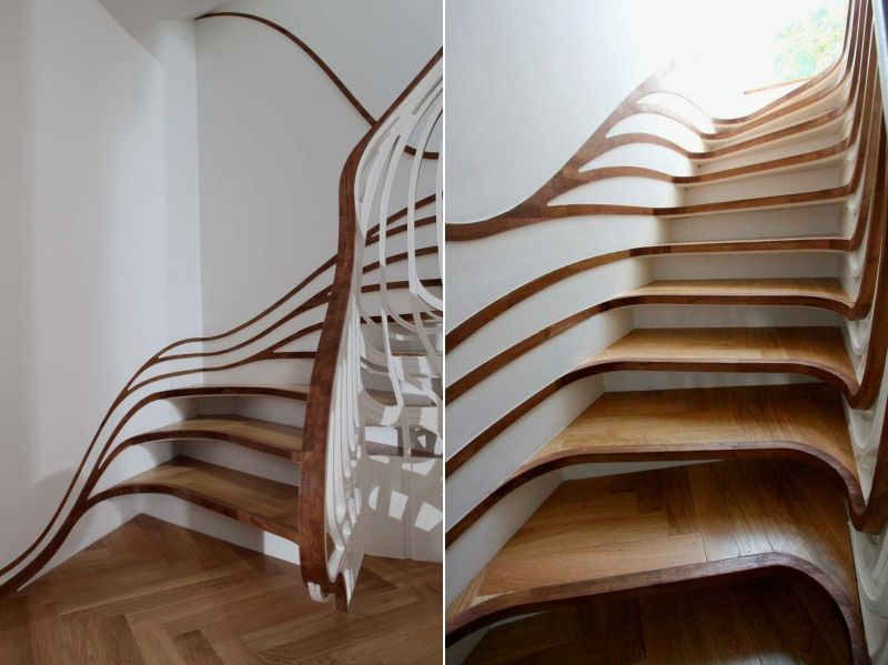 Curved staircase by Atmos Studio