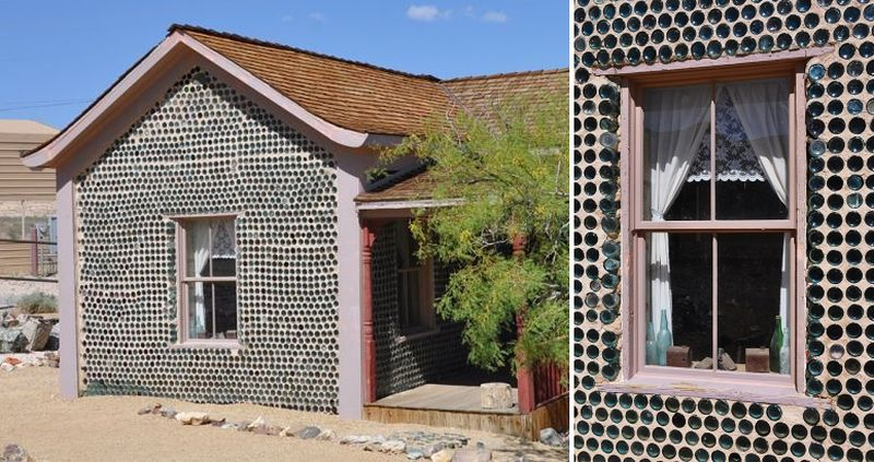 House made of wine bottles