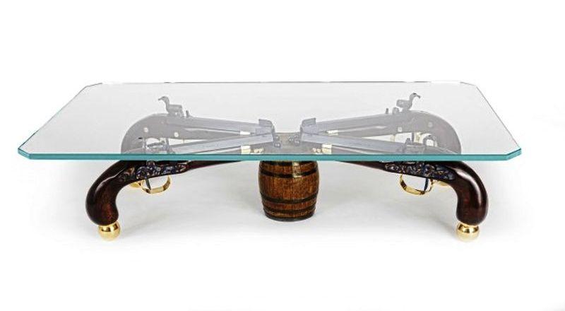 Hand-built gun coffee table