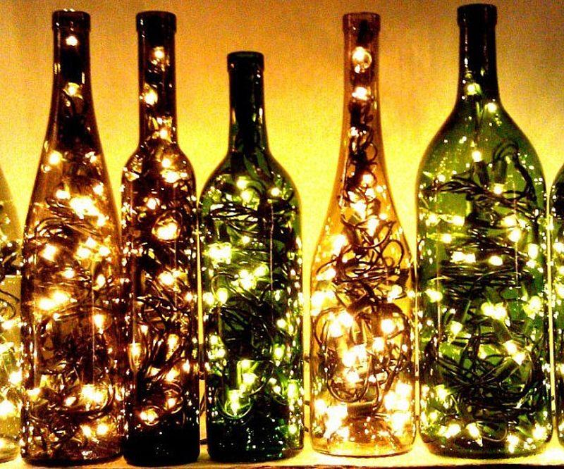 Wine Bottle Twinkle Lights