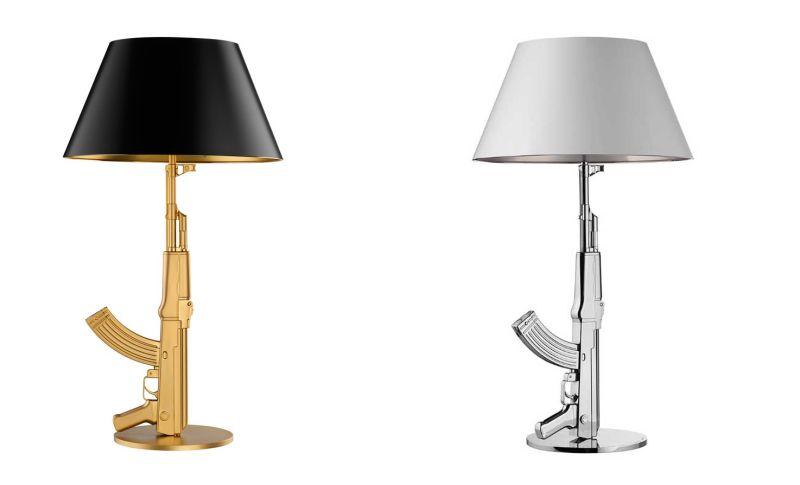 A gun table lamp