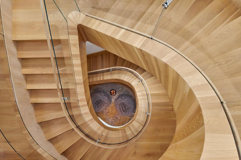 Helical staircase by Belzberg Architects