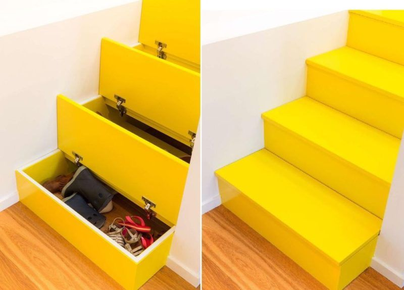 Staircase with built-in storage