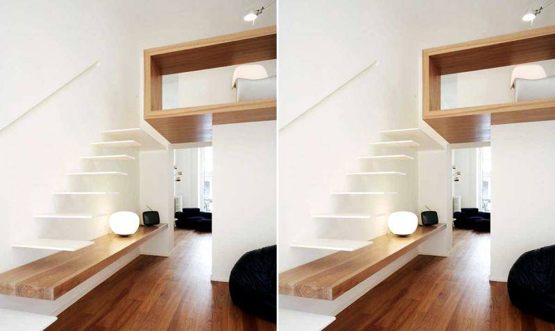 Floating staircase by Studiota