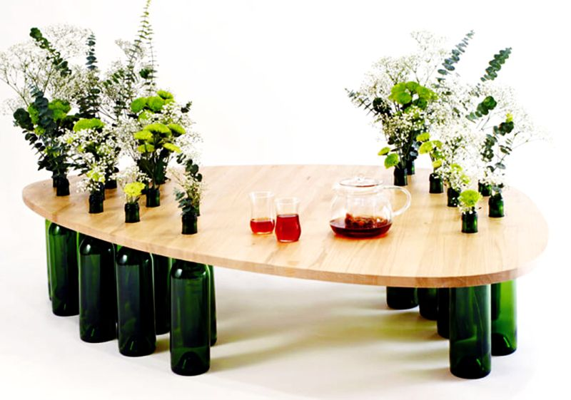 able made of wine bottles