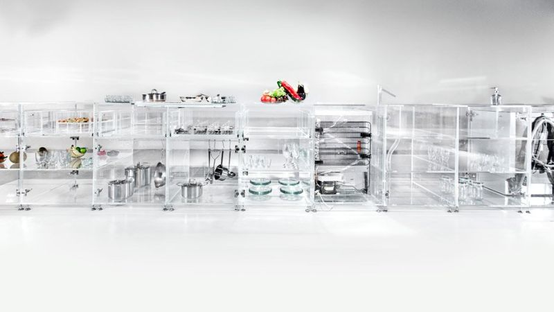 All glass kitchen by MVRDV