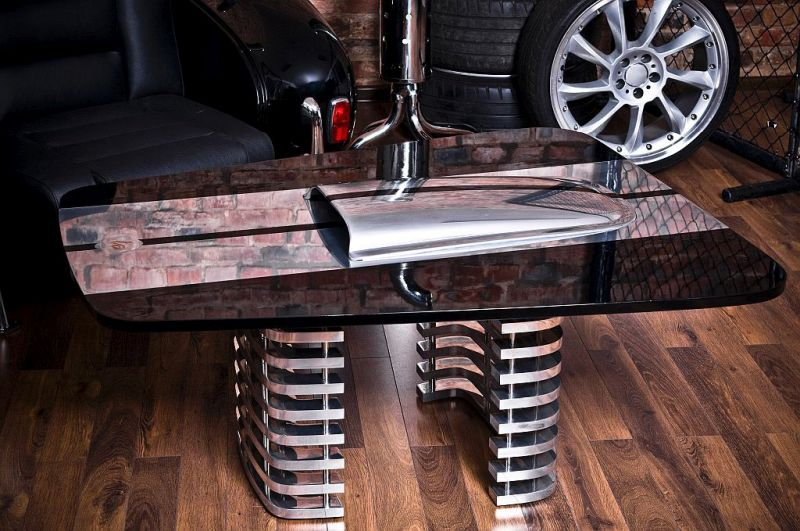 Car inspired coffee table