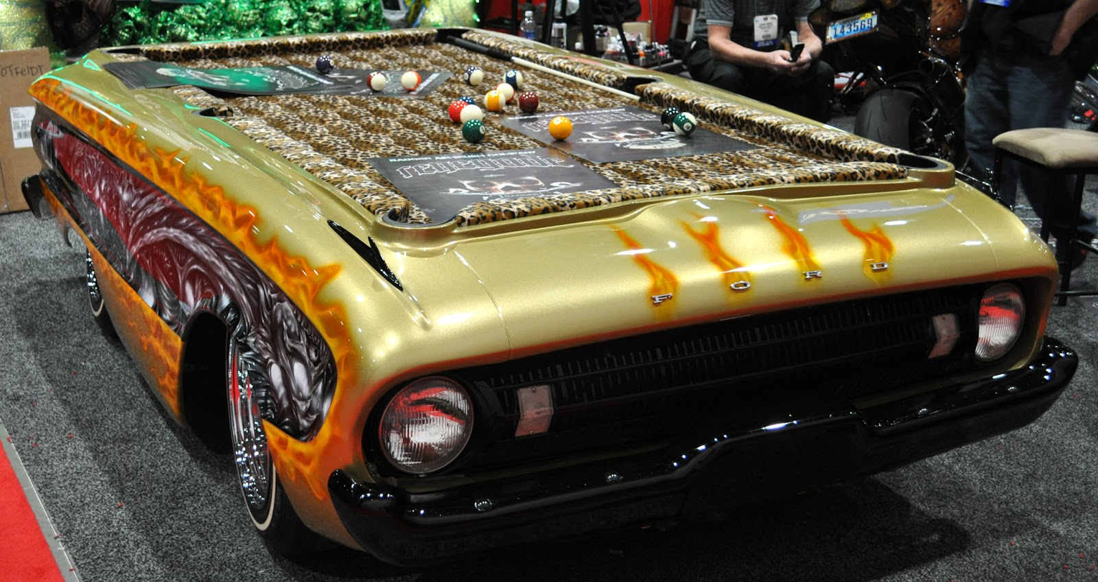 Car inspired pool table