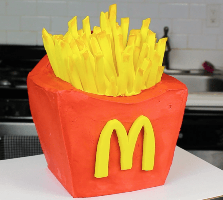 French fries cake by Chelsey White