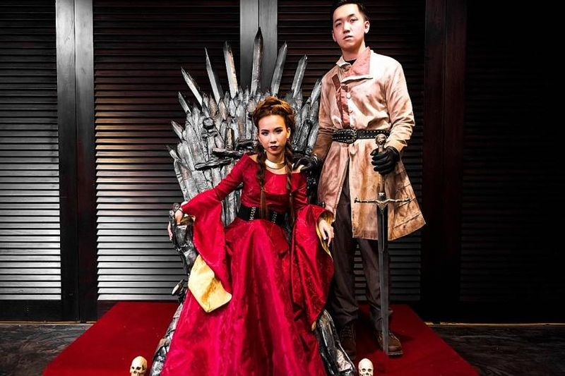 Game of Thrones-themed wedding party