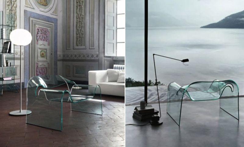 Ghost Glass Chair by Cini Boeri