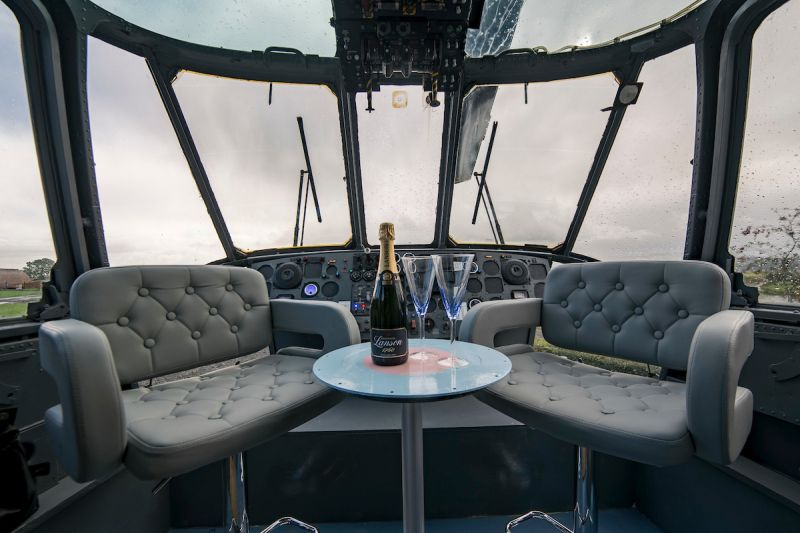 Helicopter hotel in Scotland by Martyn and his wife Louise Steedman