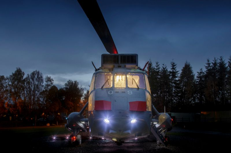 Helicopter hotel located at Mains Farm in Stirling, Scotland