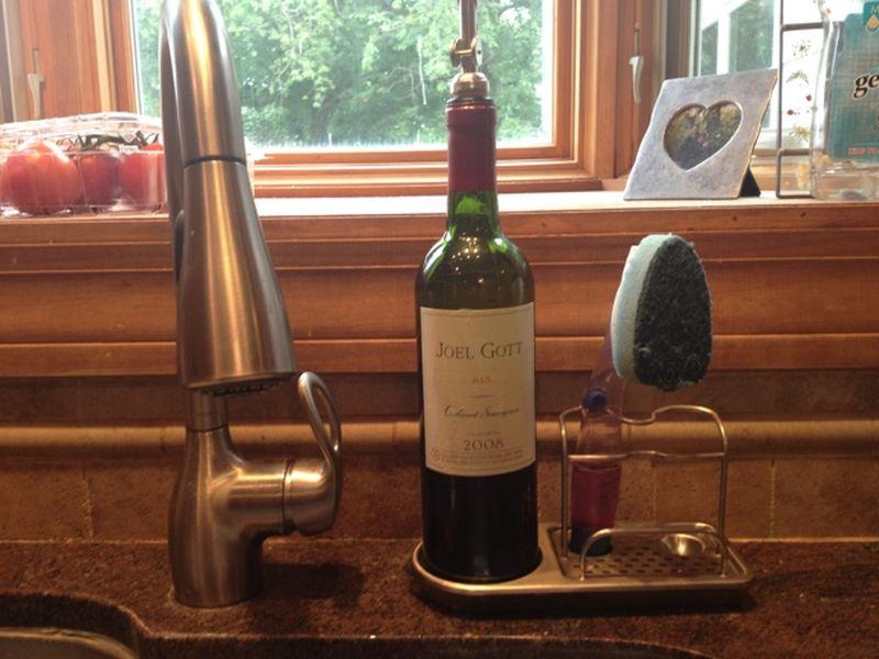 Recycled Wine Bottle Soap Dispenser