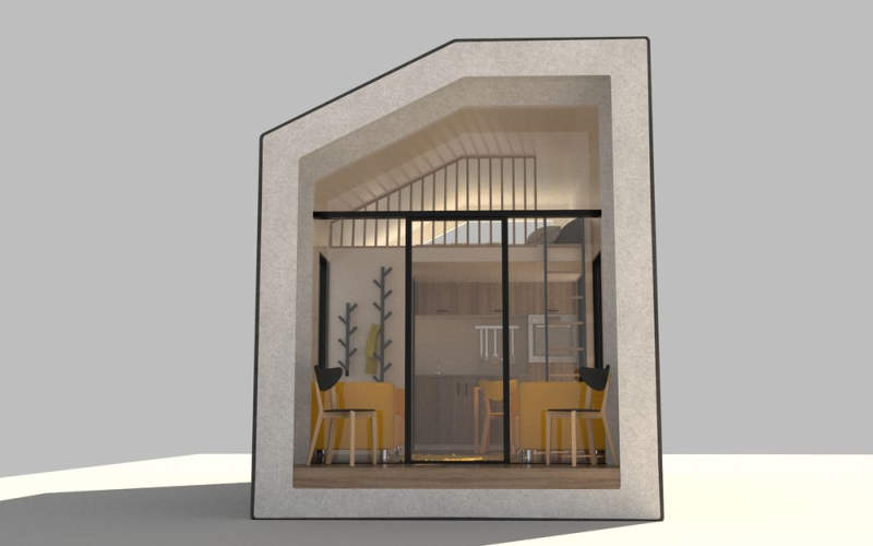 This modular tiny home made from hemp is an affordable housing solution