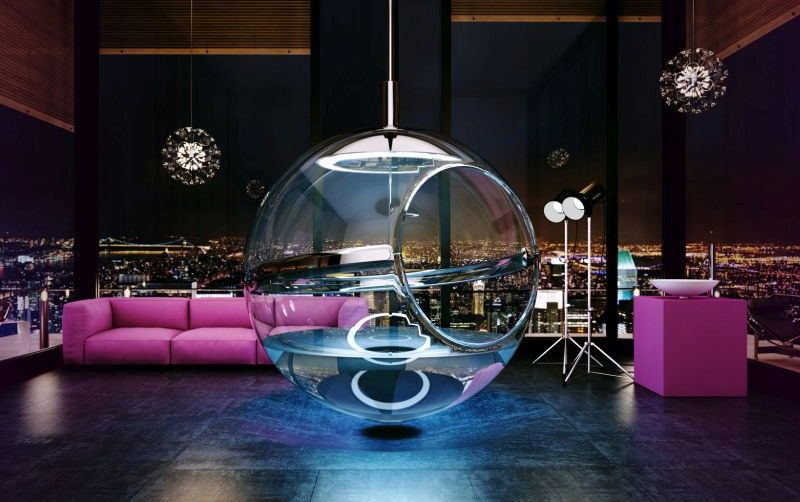 Transparent home interiors