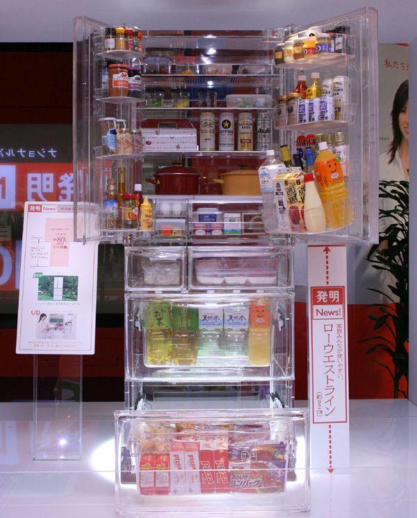 Transparent refrigerator and washing machine